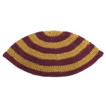 22cm Yellow and Red Frik Kippah