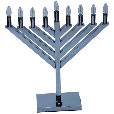 24'' LED Chrome Display Menorah