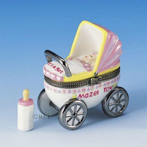 It's A Girl Stroller Hinged Box
