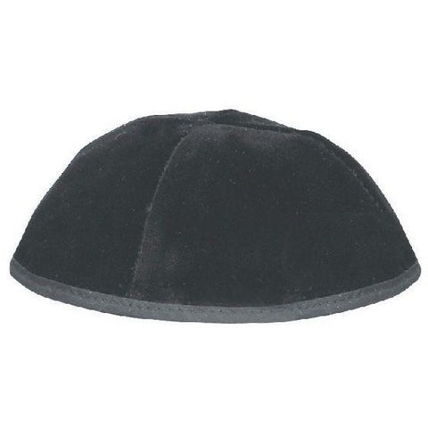 4 Part Velvet Kippah With Rim