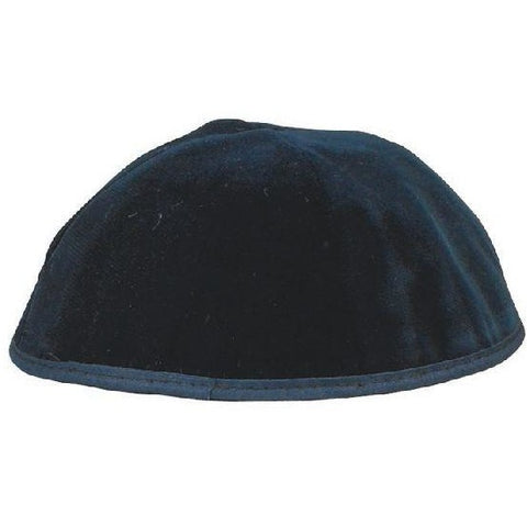 4 Part Navy Kippah with Rim (Various Sizes)