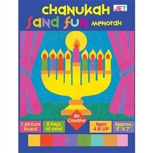 Chanukah Sand Art Menorah