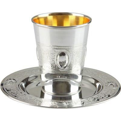 Kiddush Cup Set - Silver Coated