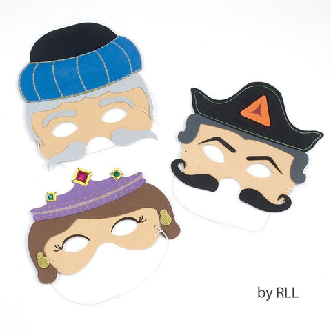 Purim Masks Foam Set Of 3