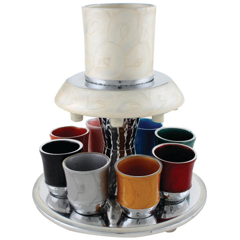 Aluminum Hammered & Colorful Kiddush Fountain