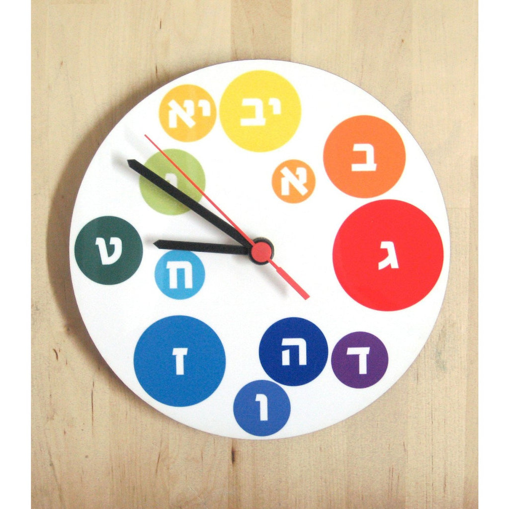 Alef Bet Clock