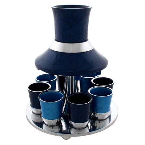 Blue Aluminum 8 Piece Wine Fountain