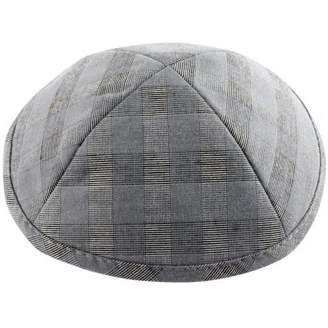Black and Grey Checkerboard Kippah