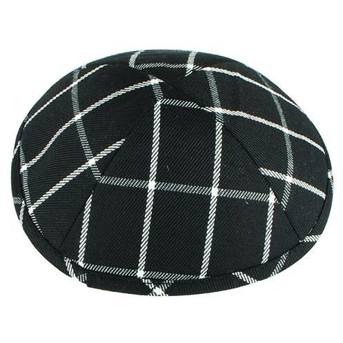Black and White Kriss Cross Kippah