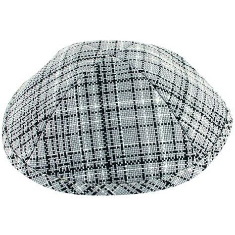 Black and White Dots on Grey Kippah