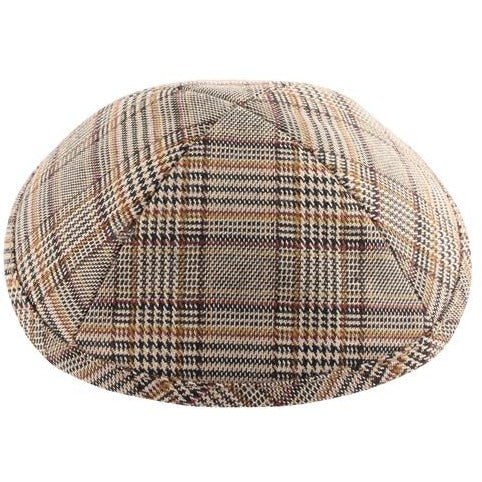 Brown Plaid Kippah