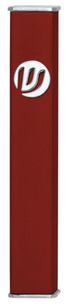 Burgandy Rectangular Mezuzah Case