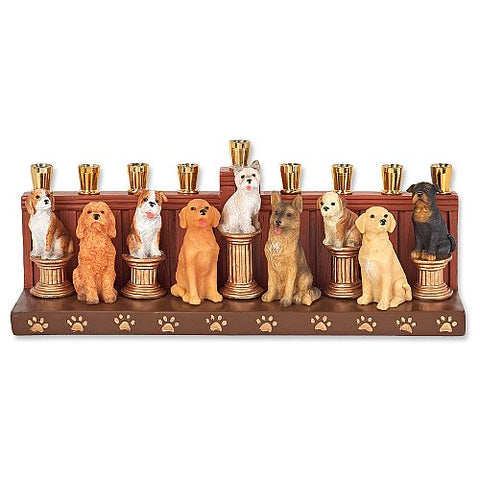 Ceramic Dog Menorah