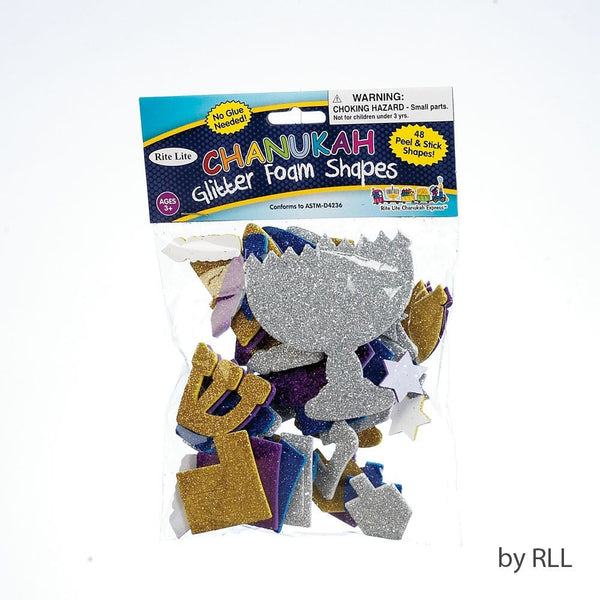 Chanukah Glitter Foam Shapes