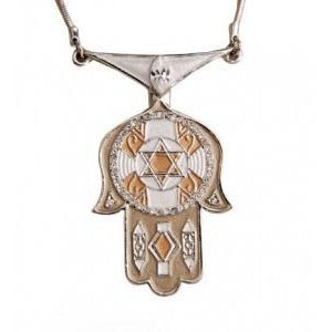 Deco Hamsa Necklace