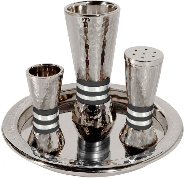 Emanuel Havdalah Set with Black Rings
