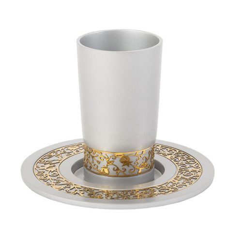 Emanuel Kiddush Set with Gold Lace