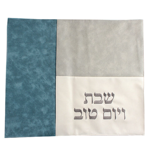 Green Patched Faux Leather Challah Cover