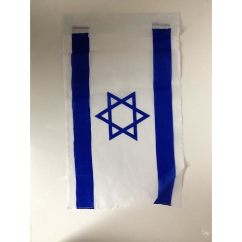 Israeli Cloth Flag 11 x 17""