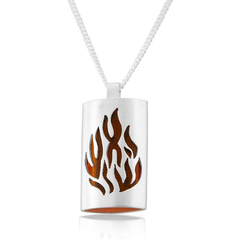 Sterling Silver Microfilm Shema Necklace