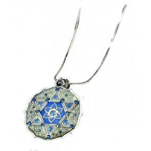 Necklace Round Star and Flower