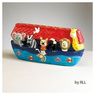 Ceramic Noah's Ark Menorah