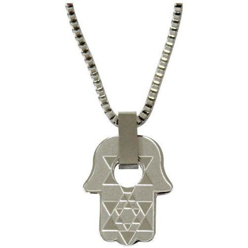 St. Steel Hamsa Pendant with Cutout