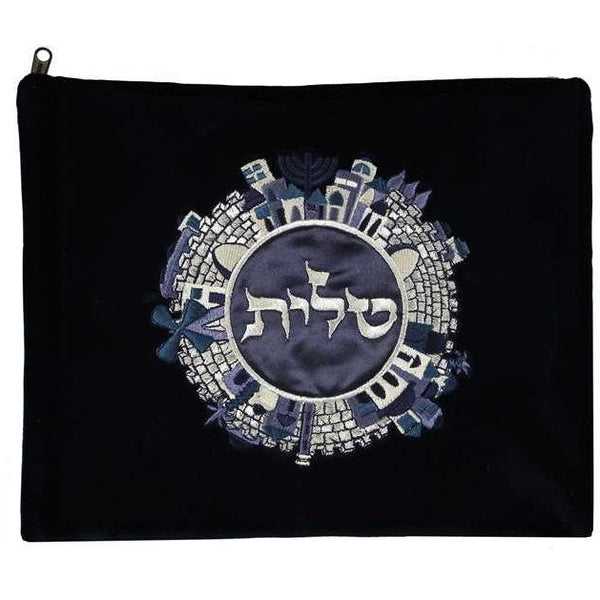 Talis Bag Black with Jerusalem Circle