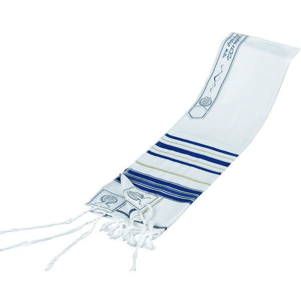 Lurex Tallit Blue/ Gold (Various Sizes)