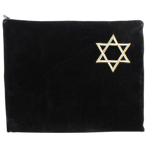 Navy Velvet Talis Bag with Star