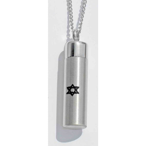 Brushed Mezuzah Necklace
