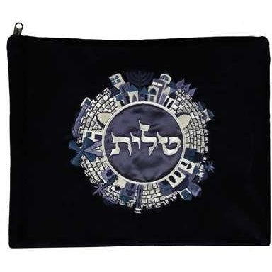Navy Jerusalem Talis Bag