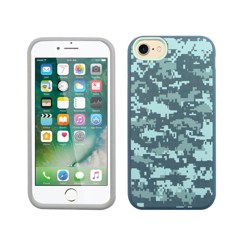 iPhone 6/7/8 Fit - Slim Design - Blue Pixelate Camo