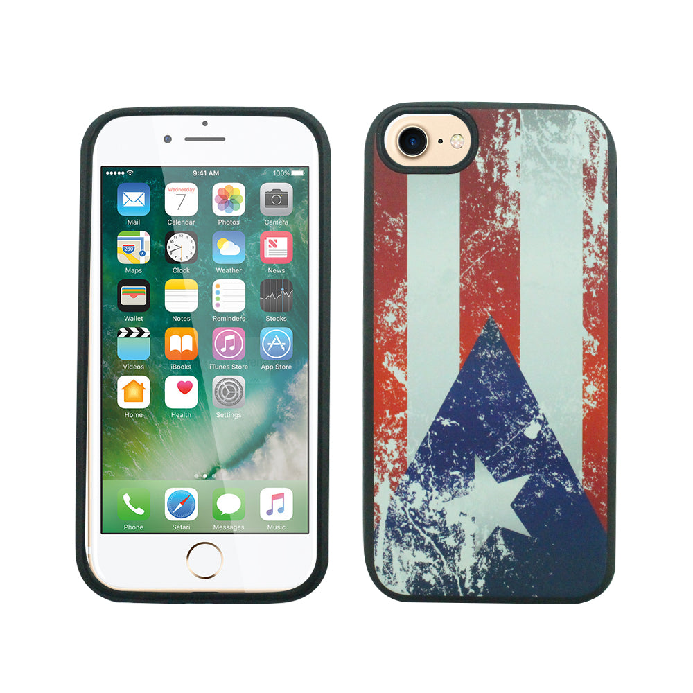 iPhone 6/7/8 PLUS Fit - Slim Design - Puerto Rican Flag