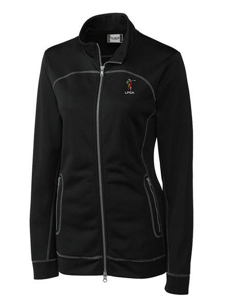 Ladies LPGA Official Logo Full-Zip Fleece by Cutter & Buck