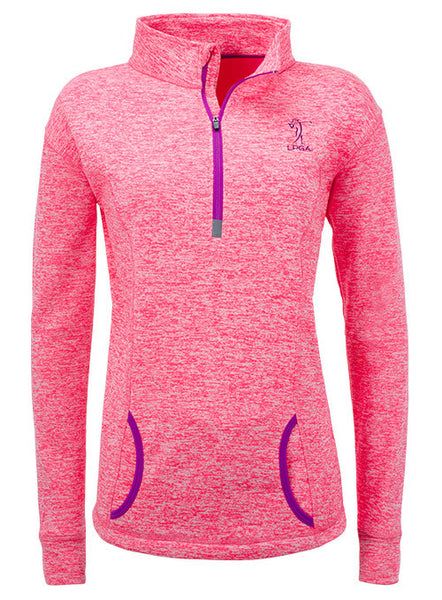 LPGA Cosmic Fleece Quarter Zip Pullover