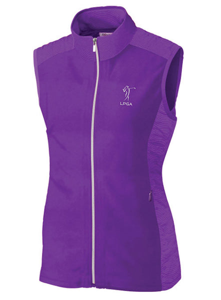 LPGA Performance Full-Zip Vest by Cutter & Buck