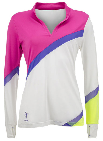 LPGA Performance Mock-Neck Polo