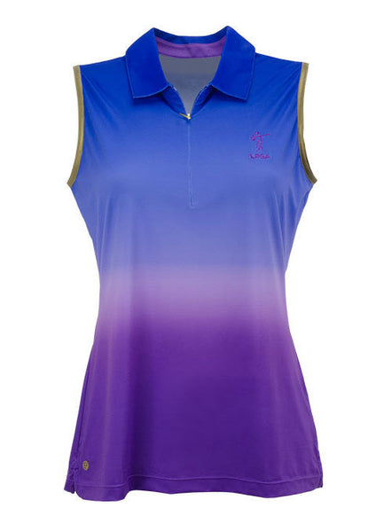 Ladies Dip Dye Ombre Sleeveless Performance Polo by EP Pro