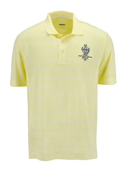 Men's 2015 Solheim Cup Striped Performance Polo by Cutter & Buck