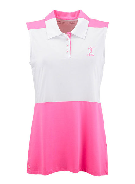 Ladies Colorblocked LPGA Official Logo Polo by Antigua