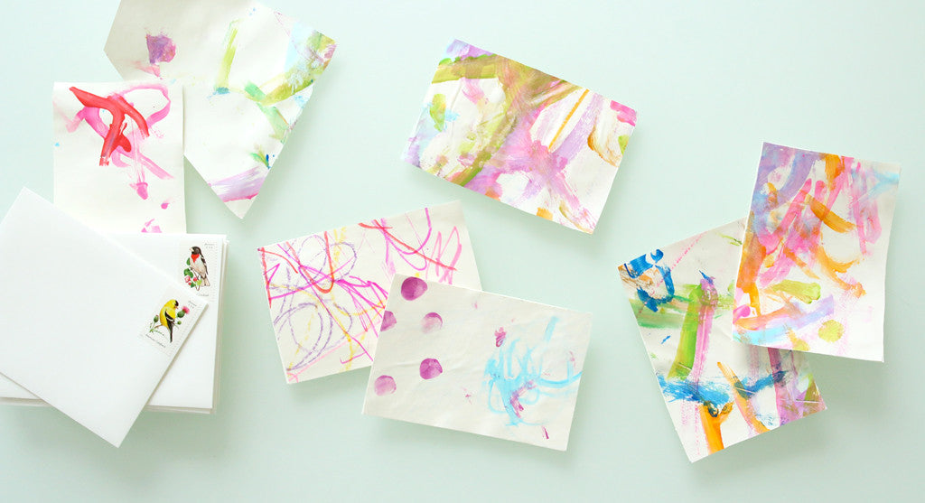 Turn Your Kid's Art into Thank You Notes