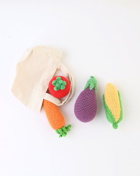 Veggie Rattles Crocheted Set