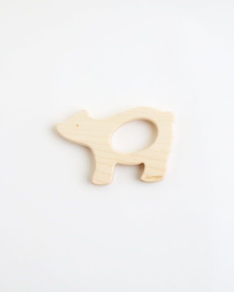 Wood Polar Bear Teether