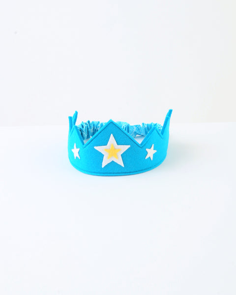 Wool Felt Crown — Blue Star
