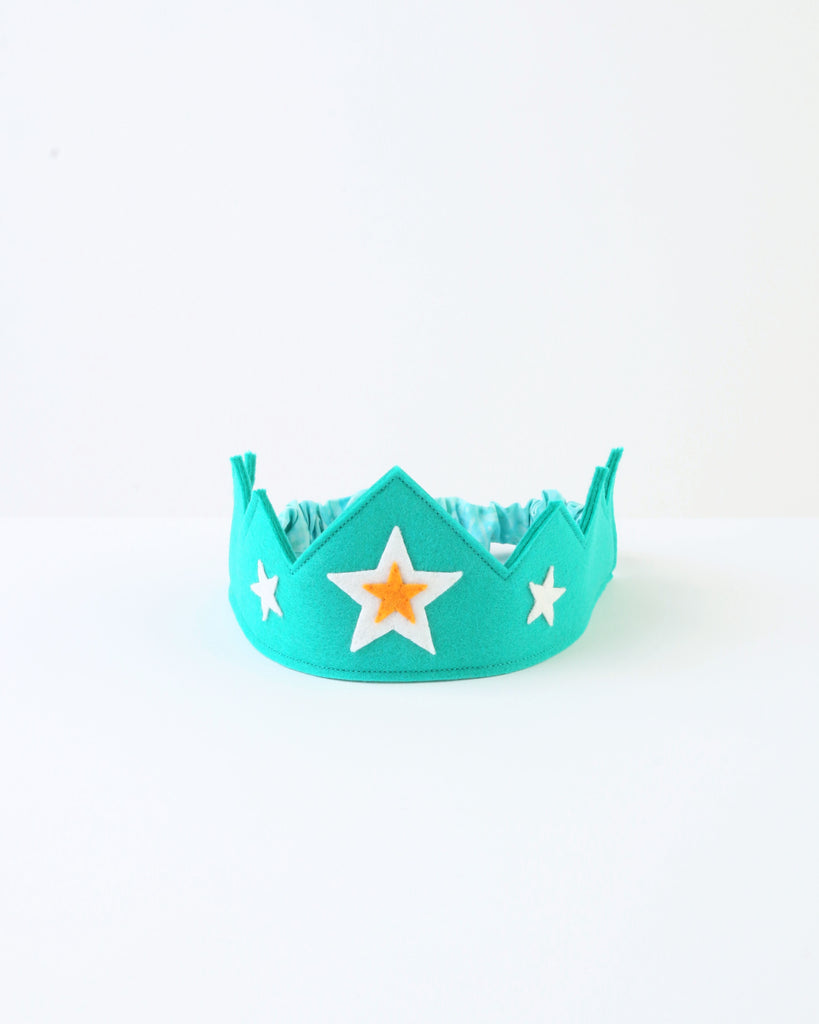 Wool Felt Crown — Green Star