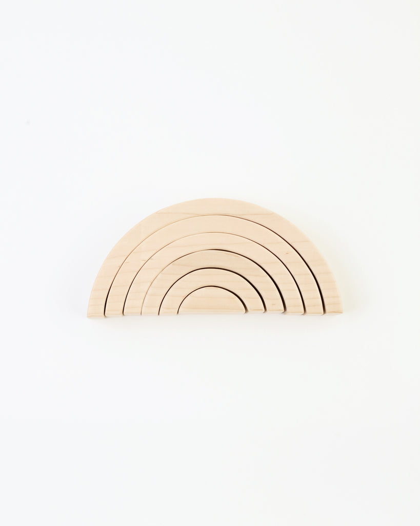 wood rainbow stacking toy