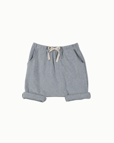 Harem Shorts in Grey Melange