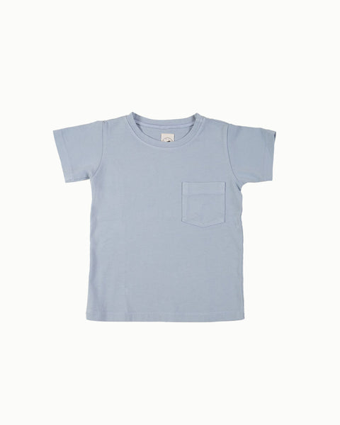 Cotton Tee in Blue Mist