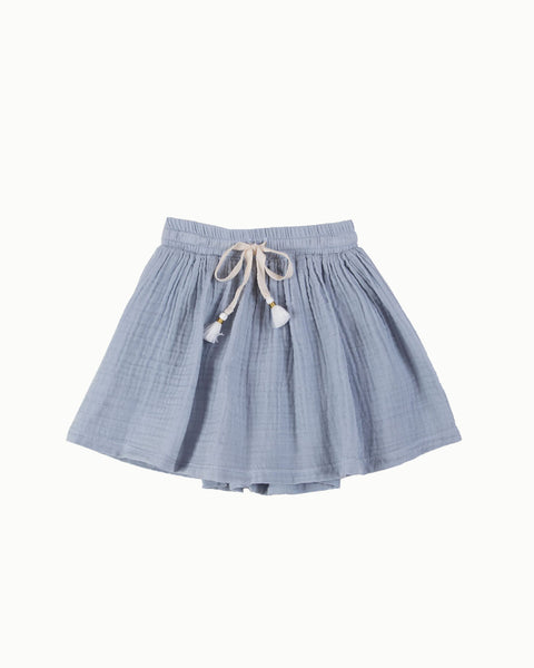 Tassel Skirt in Mist Blue